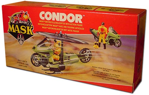 Kenner M.A.S.K. Condor EU box first wave. Logo with missile launching.