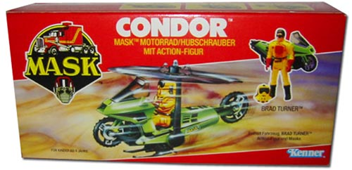 Kenner M.A.S.K. Condor German box second wave. Logo without missile launching. With Brad Turner figure.