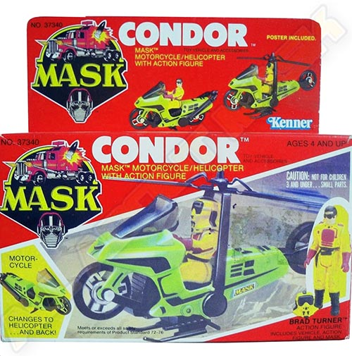 """Kenner M.A.S.K. Condor US box second wave. Incl. the long mask and poster. For more details have a look to """"Differences US boxes first toyline"""""""
