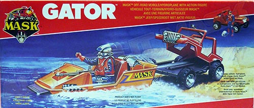 Kenner M.A.S.K. Gator EU Box with the lasergun and missile launching in the logo