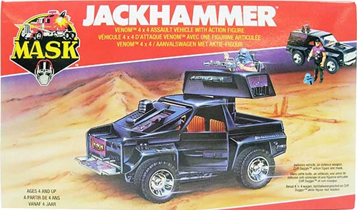 Kenner M.A.S.K. Jackhammer EU box first wave. Logo with missile launching.