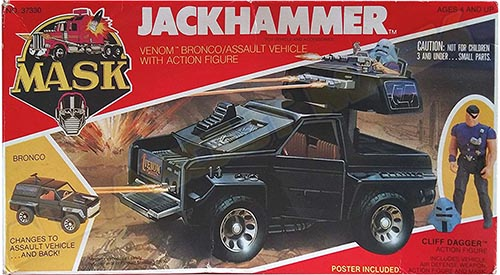 """Kenner M.A.S.K. Jackhammer US box second wave. Incl. the long mask and poster. For more details have a look to """"Differences US boxes first toyline"""""""