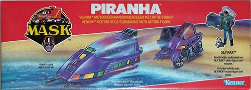 Kenner M.A.S.K. Piranha EU box second wave. Logo without missile launching.