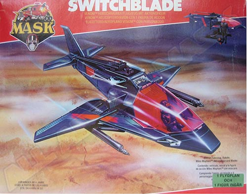 Kenner M.A.S.K. Switchblade Swedish box with green sticker