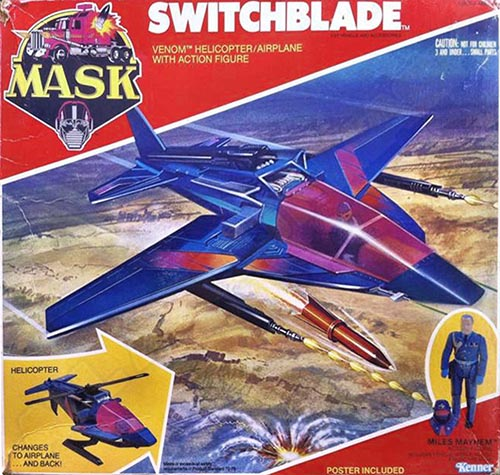"""Kenner M.A.S.K. Switchblade US box second wave. Incl. the long mask and poster. For more details have a look to """"Differences US boxes first toyline"""""""