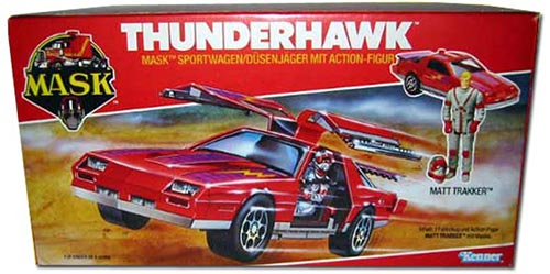 Kenner M.A.S.K. Thunderhawk EU box second wave. Logo without missile launching. Toy without missile.
