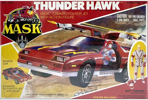 "Kenner M.A.S.K. Thunderhawk US box second wave. Incl. the long mask and poster. For more details have a look to ""Differences US boxes first toyline"""