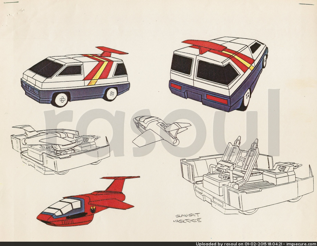 Kenner M.A.S.K. Color Guides