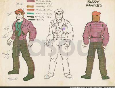 Kenner M.A.S.K. Color Guides 038 Buddy Hawks