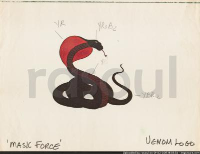 Kenner M.A.S.K. Color Guides 023 VENOM Snake