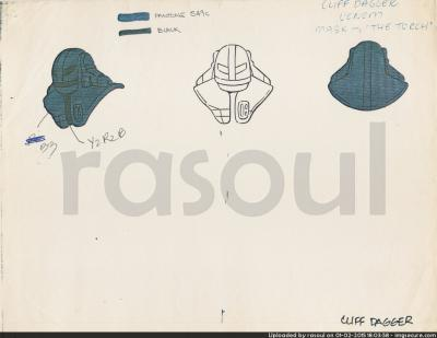 Kenner M.A.S.K. Color Guides 033 Torch Mask