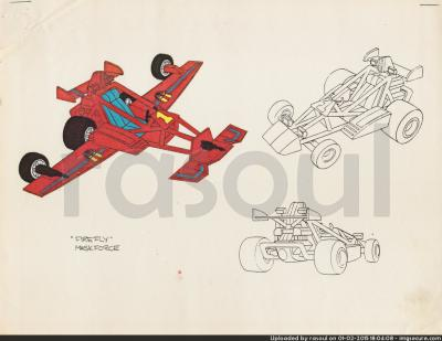 Kenner M.A.S.K. Color Guides 040 Firefly