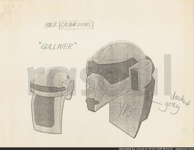 Kenner M.A.S.K. Color Guides 052 Gulliver Mask