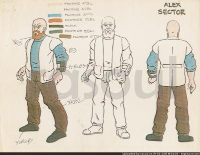 Kenner M.A.S.K. Color Guides 036 Alex Sector