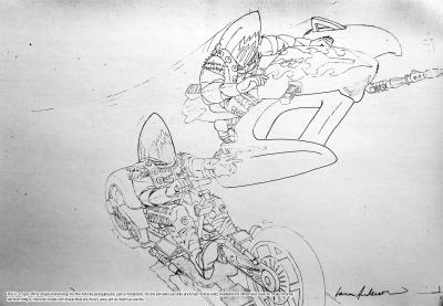 Concept pencil art for M.A.S.K BARRACUDA package