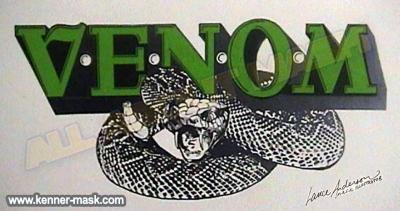 Concept pencil art of an early VENOM logo