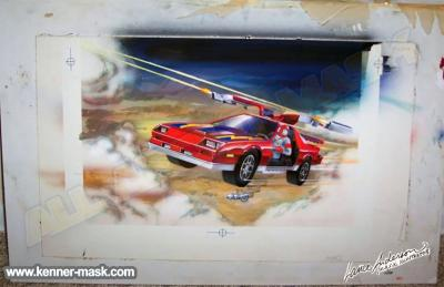 Colored concept art for the M.A.S.K. THUNDERHAWK package
