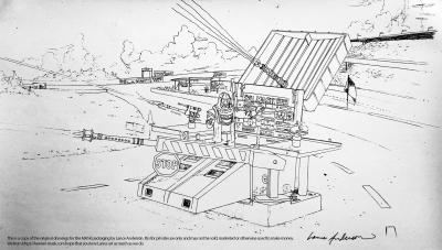 Concept pencil art for M.A.S.K COLLECTOR package