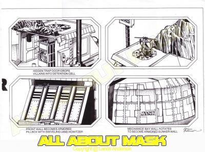 Concept pencil art for M.A.S.K BOULDER HILL package