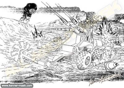Concept pencil art for M.A.S.K IGUANA package