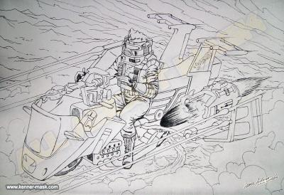 Concept pencil art for M.A.S.K VAMPIRE package