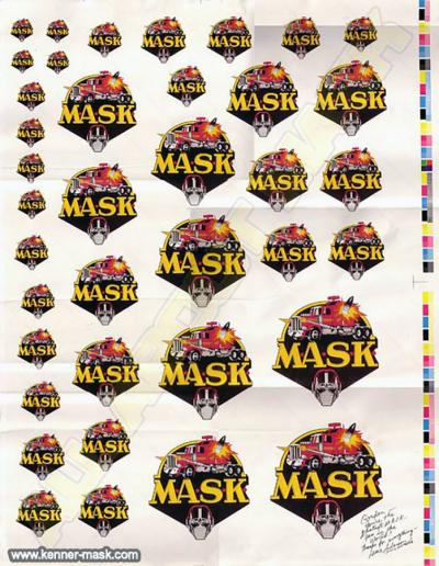 M.A.S.K. Logo proof sheet with dedication for Gordon