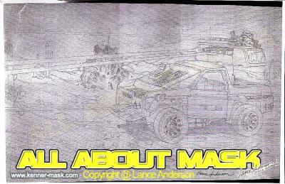 Concept pencil art for M.A.S.K JACKHAMMER package
