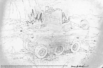 Concept pencil art for M.A.S.K HURRICANE package