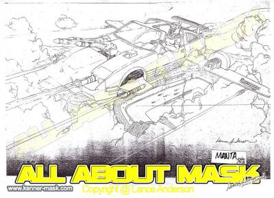 Concept pencil art for M.A.S.K MANTA package