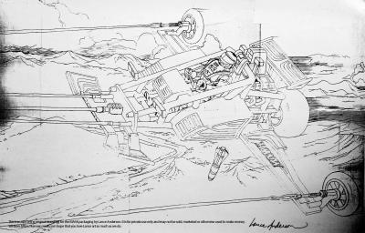 Concept pencil art for M.A.S.K FIREFLY package