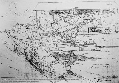 Concept pencil art for M.A.S.K BUZZARD package