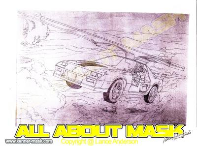 Concept pencil art for M.A.S.K THUNDERHAWK package