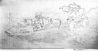 Concept pencil art for M.A.S.K GATOR package