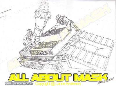 Concept pencil art for M.A.S.K RAMP UP package