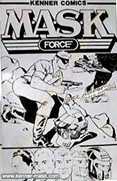 Concept art for a M.A.S.K. comic