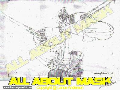 Concept pencil art for M.A.S.K THUNDERBALL package