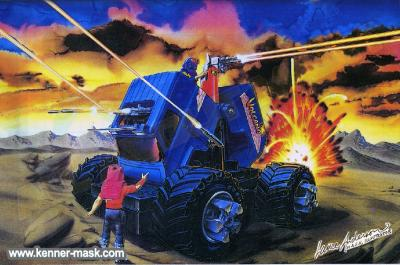 Art for the M.A.S.K. VOLCANO package