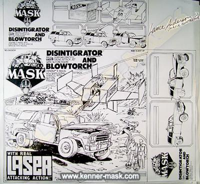 Early concept pencil art for the M.A.S.K LASER COMMAND package
