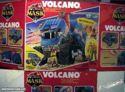 Early concept art for the M.A.S.K VOLCANO package
