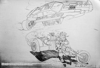 Concept pencil art for M.A.S.K FIREFORCE package