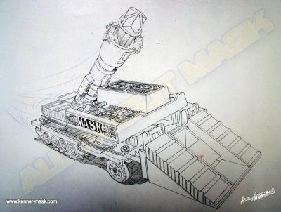 Concept pencil art for M.A.S.K RAMP UP box