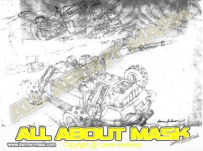 Concept pencil art for M.A.S.K WOLFBEAST box