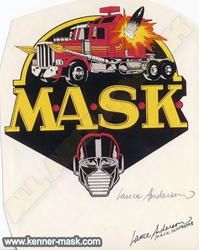M.A.S.K. Logo signed from Lance