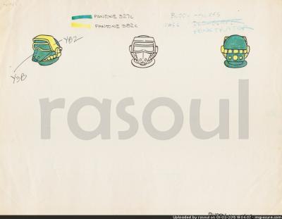 Kenner M.A.S.K. Color Guides 039 Penetrator Mask