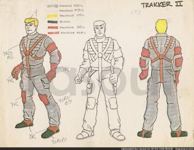 Kenner M.A.S.K. Color Guides 024 Matt Trakker Tunderhawk