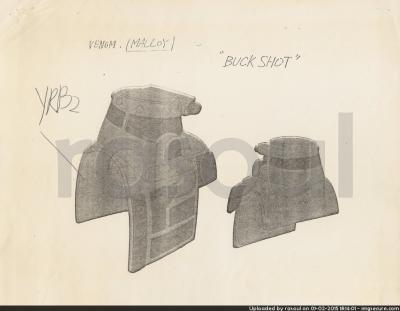 Kenner M.A.S.K. Color Guides 085 Buckshot Mask