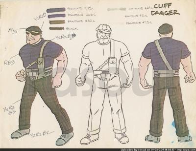 Kenner M.A.S.K. Color Guides 032 Cliff Dagger