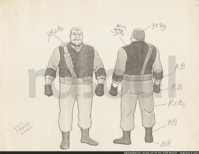 Kenner M.A.S.K. Color Guides 071 Miles Mayhem Outlaw