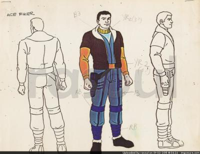 Kenner M.A.S.K. Color Guides 056 Ace Riker