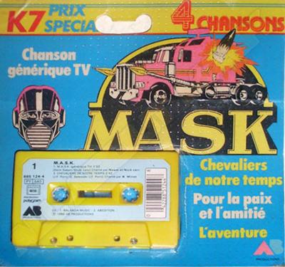 M.A.S.K. M.A.S.K. tape from france with 4 different theme songs